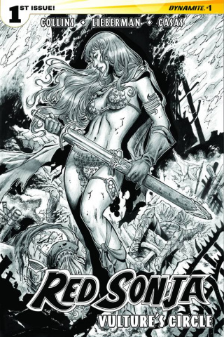 Red Sonja: Vulture's Circle #1 (20 Copy Geovani B&W Cover)