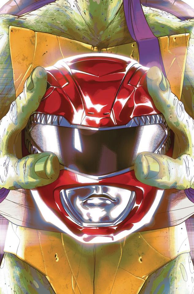 Power Rangers / Teenage Mutant Ninja Turtles #1 (Montes Cover)
