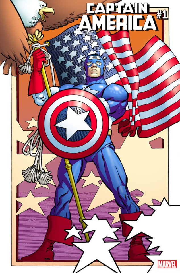 Captain America #1 (Miller Remastered Cover)
