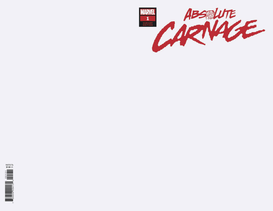 Absolute Carnage #1 (Blank Cover)