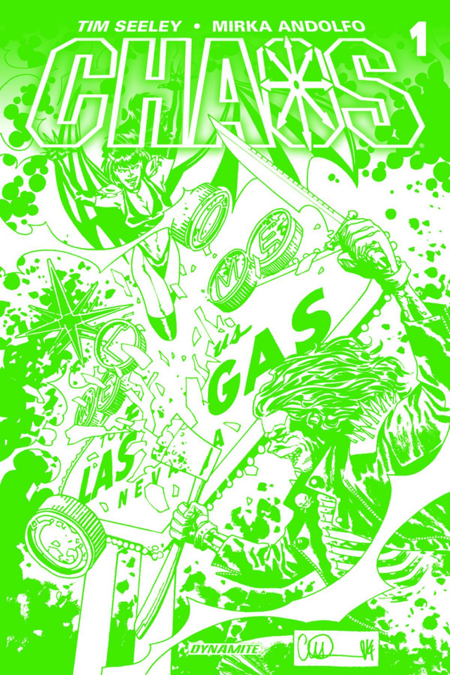 Chaos #1 (High End Adlard Chaotic Green Cover)
