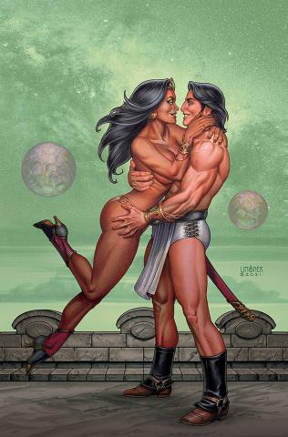 Dejah Thoris vs. John Carter of Mars #4 (Linsner Virgin Cover)