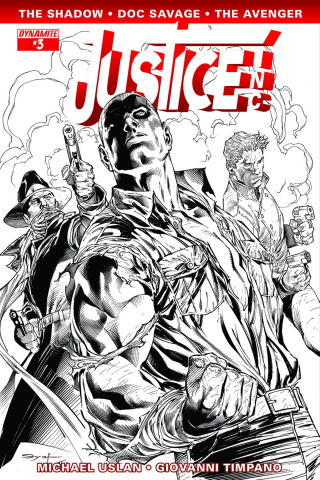 Justice, Inc. #3 (15 Copy Syaf B&W Cover)