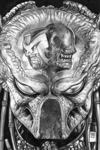 Predator vs. Judge Dredd vs. Aliens #3 (Fabry Pencils Cover)