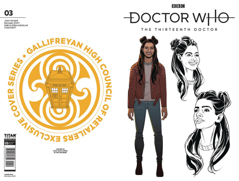 Doctor Who: The Thirteenth Doctor #3 (Gallifreyan High Council Cover)