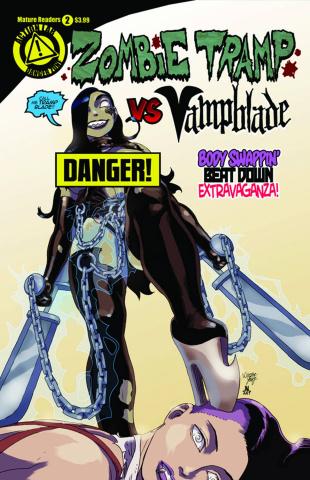 Zombie Tramp vs. Vampblade #2 (Vampblade Risque Cover)
