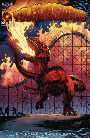 Volcanosaurus #2 (V-Rex Homage Cover)