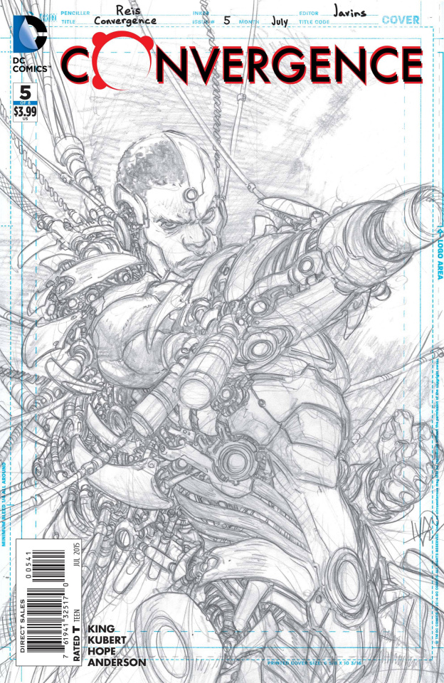 Convergence #5 (Cyborg Sketch Cover)