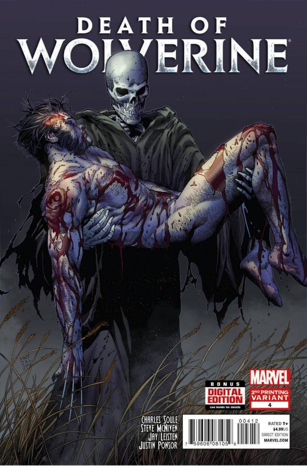 Death of Wolverine #4 (2nd Printing)