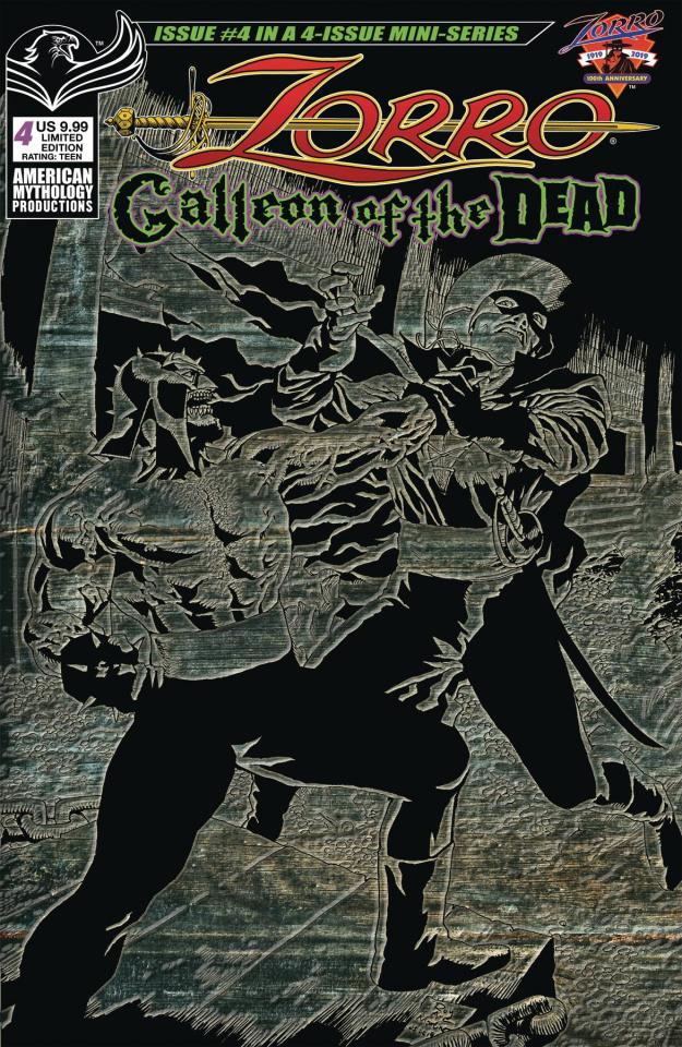 Zorro: Galleon of the Dead #4 (Pulp Cover)