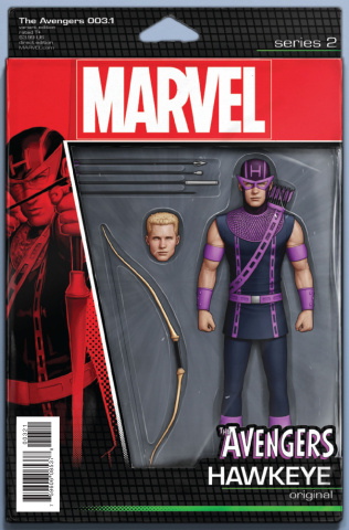 Avengers #3.1 (Christopher Action Figure Cover)
