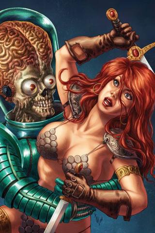 Mars Attacks / Red Sonja #1 (35 Copy Quah Virgin Cover)