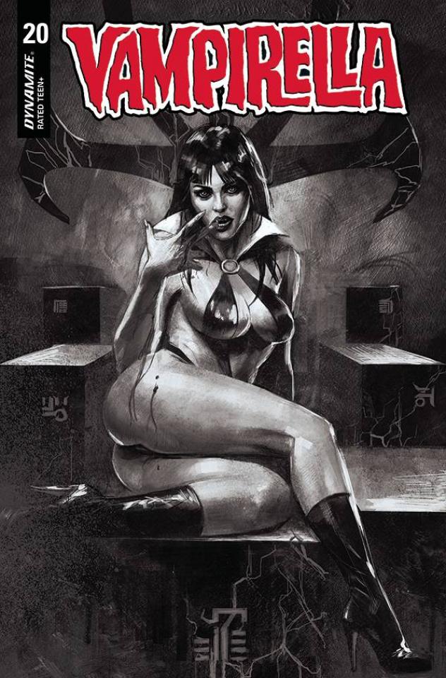 Vampirella #20 (40 Copy Mastrazzo B&W Cover)