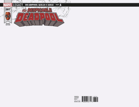 The Despicable Deadpool #287 (Blank Cover)