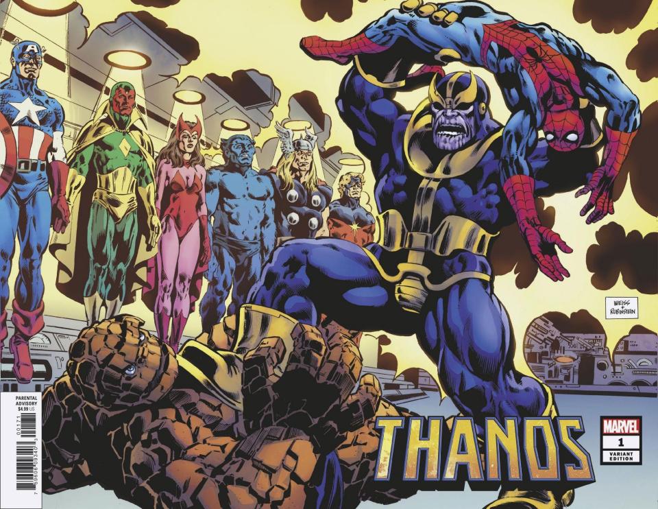 Thanos #1 (Weiss Wraparound Hidden Gem Cover)