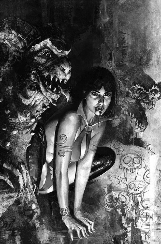 Vampirella #19 (7 Copy Mastrazzo B&W Virgin Cover)