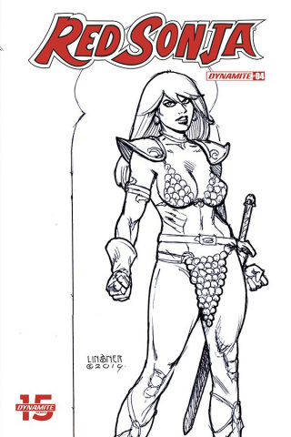 Red Sonja #4 (30 Copy Linsner B&W Cover)