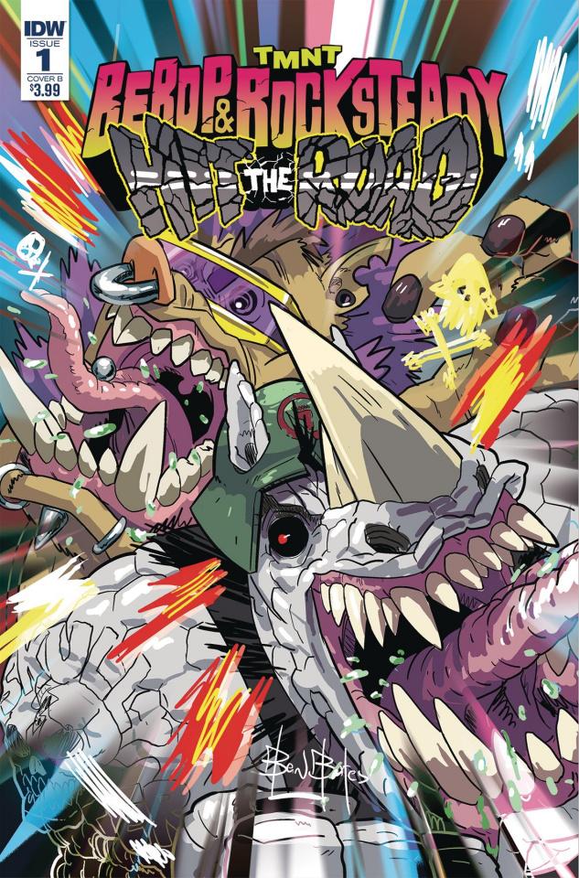 Teenage Mutant Ninja Turtles: Bebop and Rocksteady Hit the Road #1 (Bates Cover)