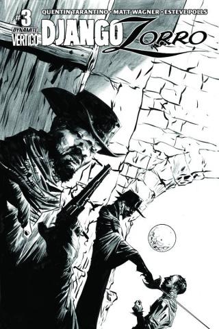 Django / Zorro #3 (25 Copy Lee B&W Cover)
