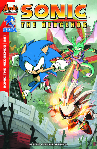 Sonic the Hedgehog #281 (Hesse Cover)
