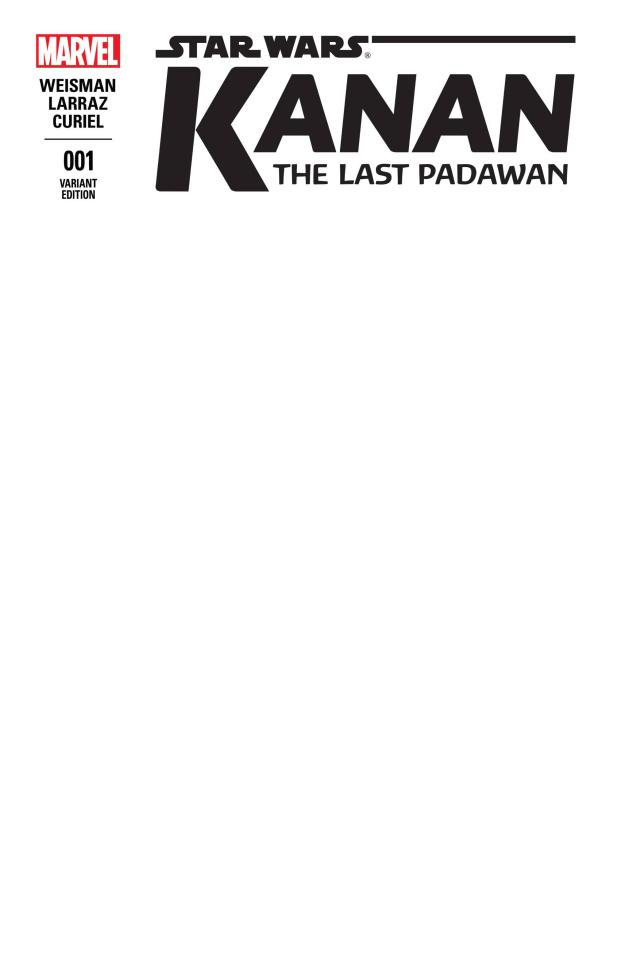 Kanan: The Last Padawan #1 (Blank Cover)