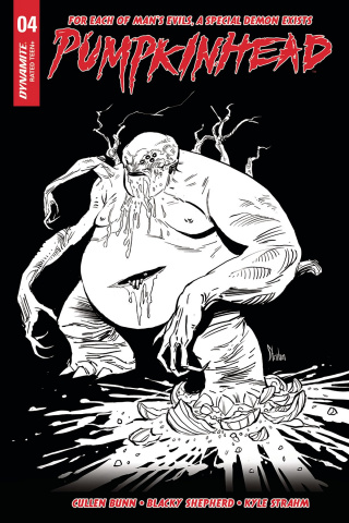 Pumpkinhead #4 (10 Copy Strahm B&W Cover)