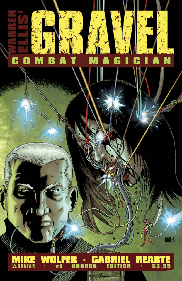 Gravel: Combat Magician #1 (Horror Cover)