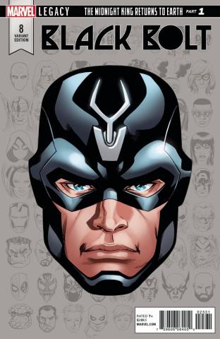 Black Bolt #8 (MKkone Legacy Headshot Cover)