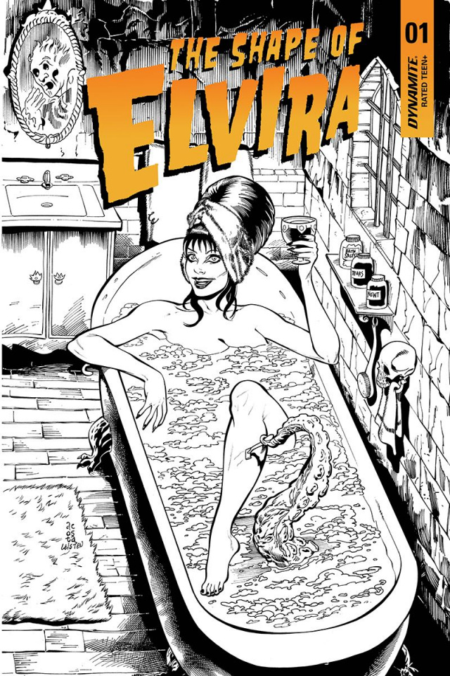 The Shape of Elvira #1 (30 Copy Acosta B&W Cover)