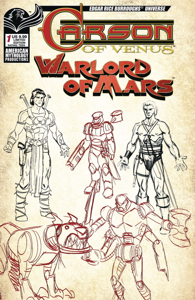 Carson of Venus / Warlord of Mars #1 (Character Design Cover)