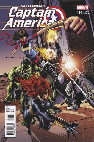 Captain America: Sam Wilson #14 (Deodato Champions Cover)