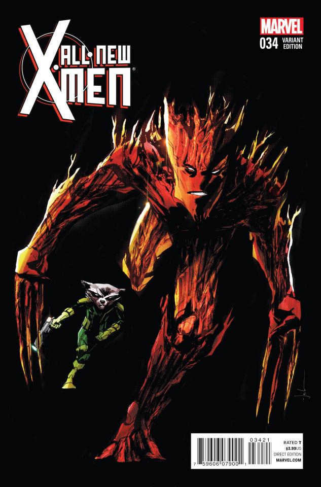 All-New X-Men #34 (Rocket Raccoon & Groot Jock Cover)