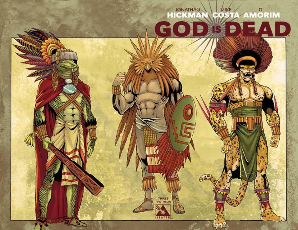 God Is Dead #3 (Pantheon Wrap Cover)