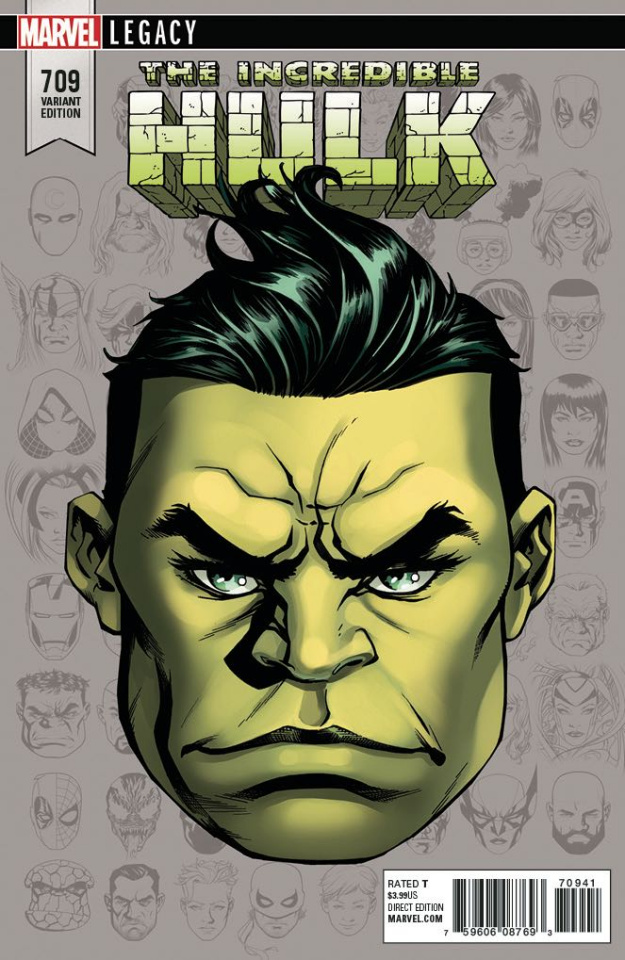 The Incredible Hulk #709 (McKone Legacy Headshot Cover)