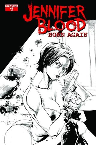 Jennifer Blood: Born Again #3 (10 Copy Segovia B&W Cover)