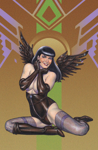 Bettie Page and The Curse of the Banshee #1 (Linsner Virgin Cover)