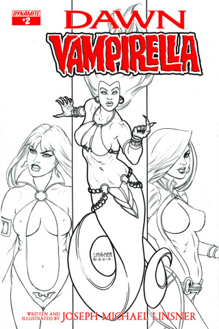 Dawn / Vampirella #2 (10 Copy Linsner B&W Cover)