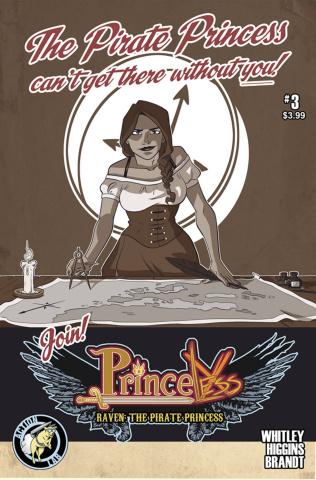 Princeless: Raven, The Pirate Princess #3 (Higgins & Brandt Cover)