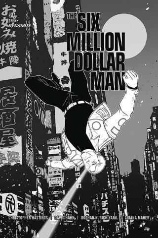 The Six Million Dollar Man #1 (50 Copy Medri B&W Cover)