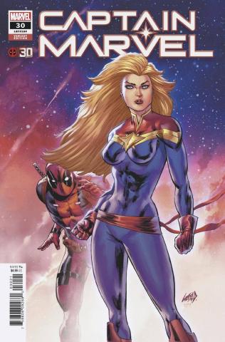 Captain Marvel #30 (Liefeld Deadpool 30th Anniversary Cover)