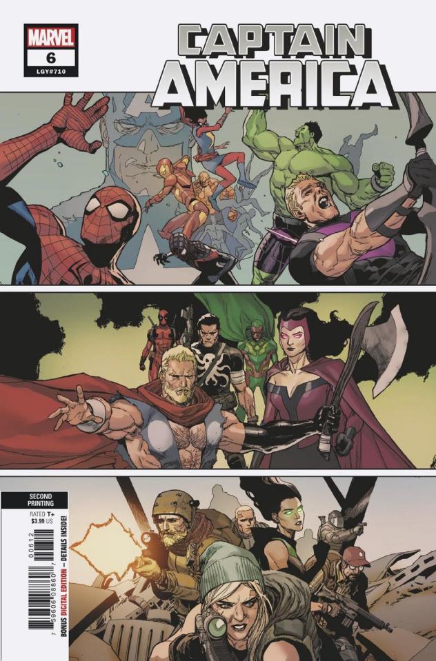 Captain America #6 (Yu 2nd Printing)