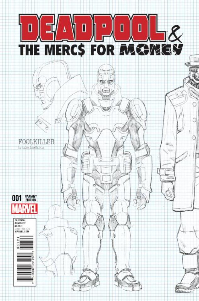 Deadpool and the Mercs For Money #1 (Hawthorne Design Cover)
