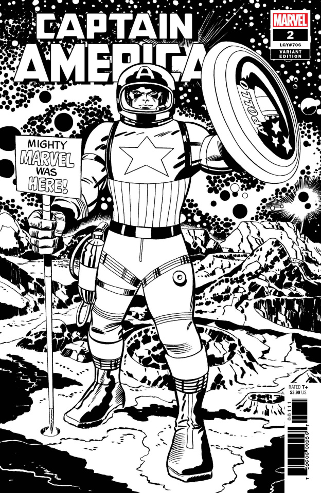 Captain America #2 (Kirby B&W Remastered Cover)