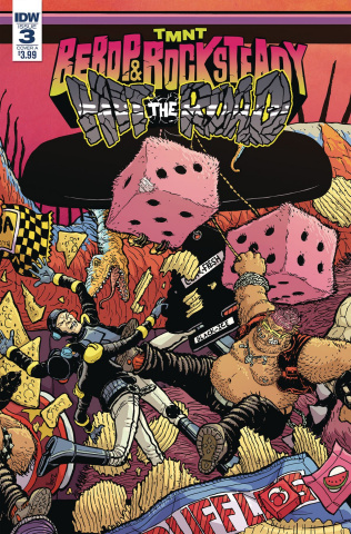 Teenage Mutant Ninja Turtles: Bebop and Rocksteady Hit the Road #3 (Pitarra Cover)