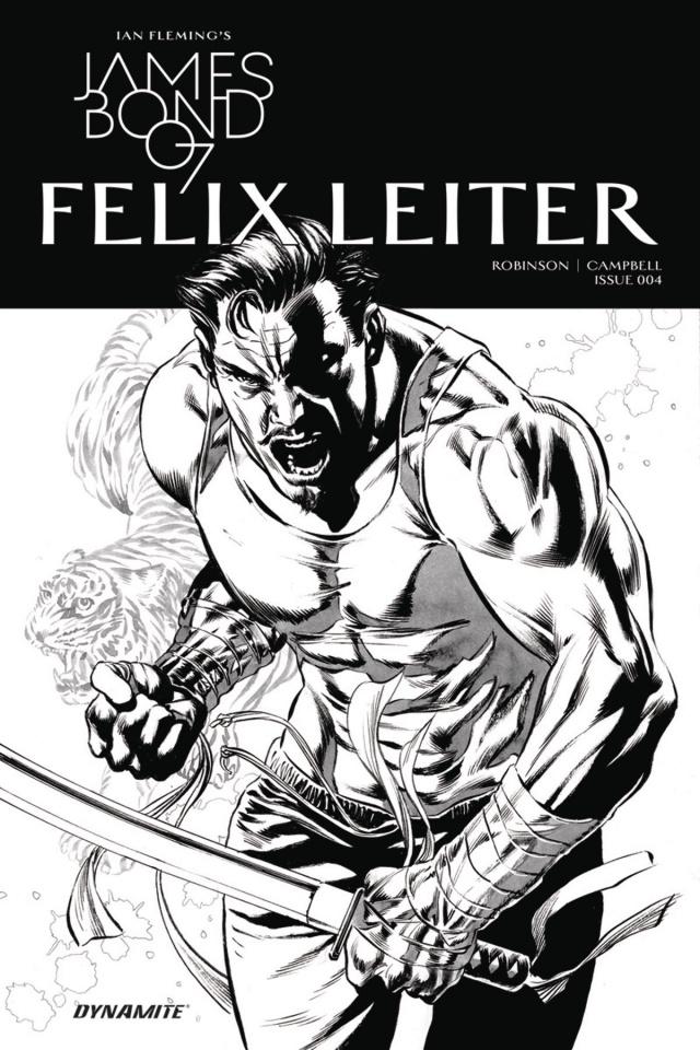 James Bond: Felix Leiter #4 (10 Copy B&W Cover)