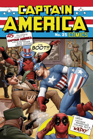 Captain America #25 (Deadpool Cover)