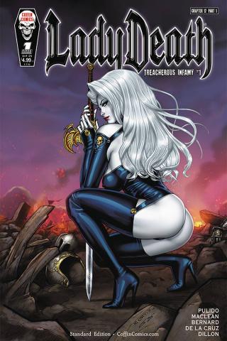 Lady Death: Treacherous Infamy #1 (Richard Ortiz Cover)