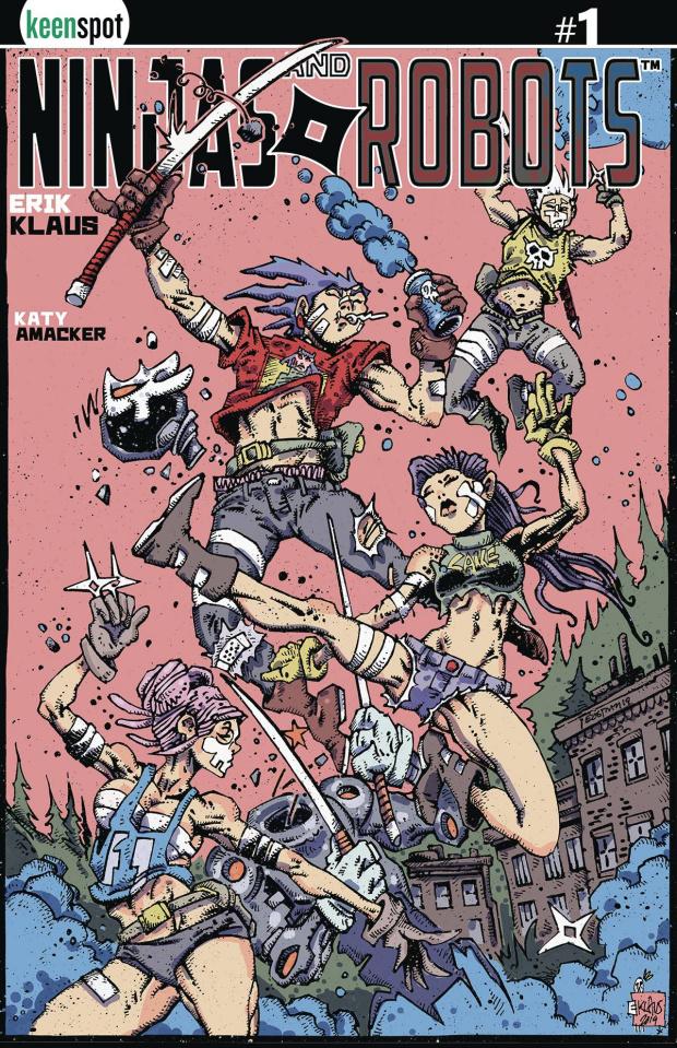 Ninjas and Robots #1 (Free 5 Copy Klaus / Eastman Cover)