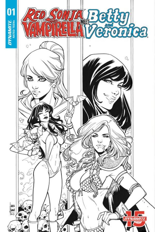Red Sonja and Vampirella Meet Betty and Veronica #1 (20 Copy Braga B&W Cover)
