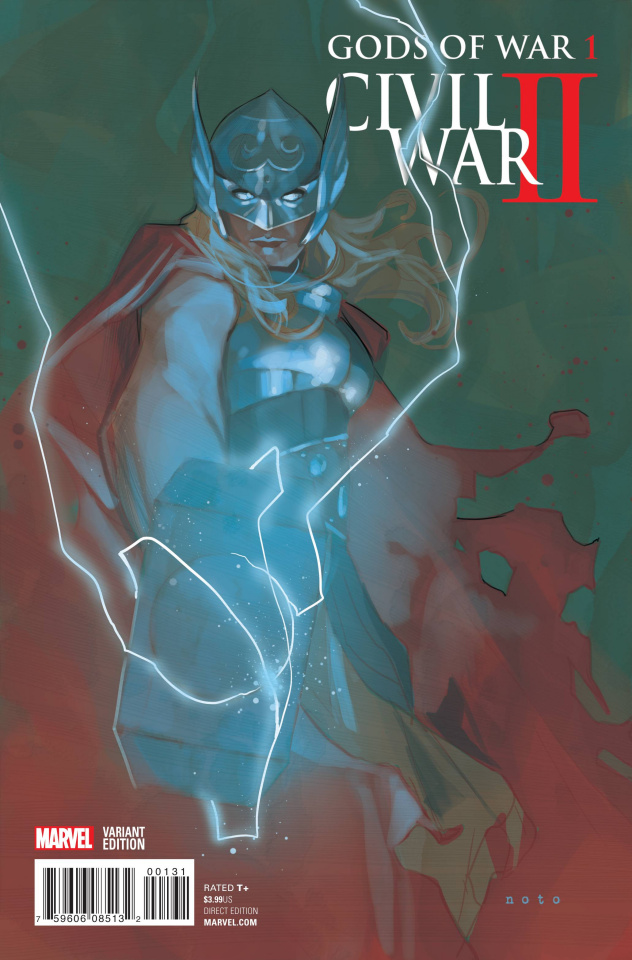 Civil War II: Gods of War #1 (Noto Thor Cover)